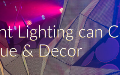 How Event Lighting can Complement Your Venue and Décor